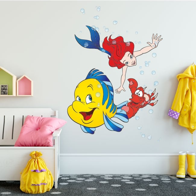 Children's vinyl stickers the little mermaid