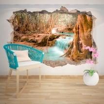 Decorative vinyl waterfall nature 3D