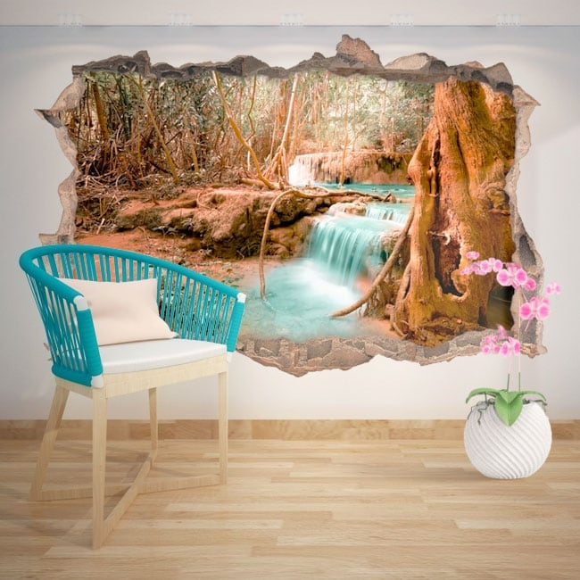 Decorative vinyl waterfall nature 3D