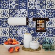 Adhesive vinyl wall tiles