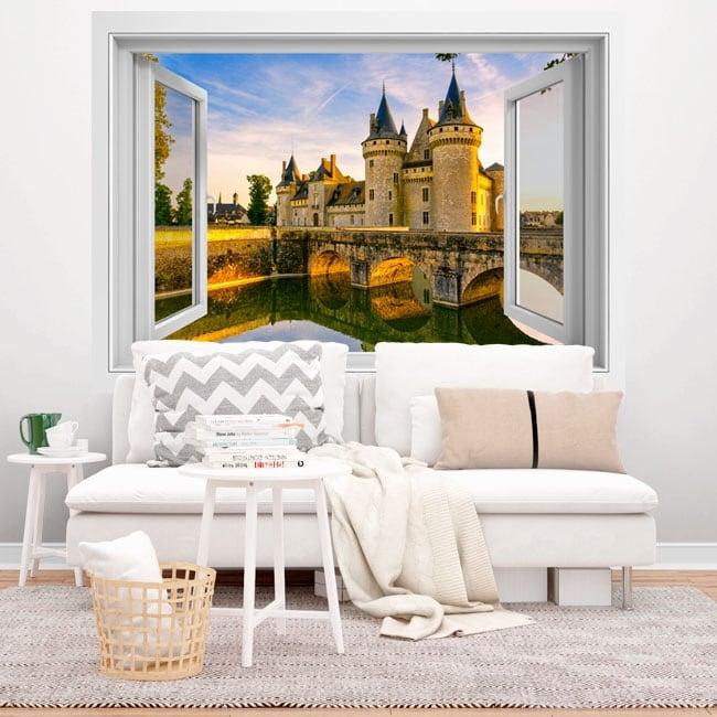 Adhesive vinyl France Chenonceau castle 3D
