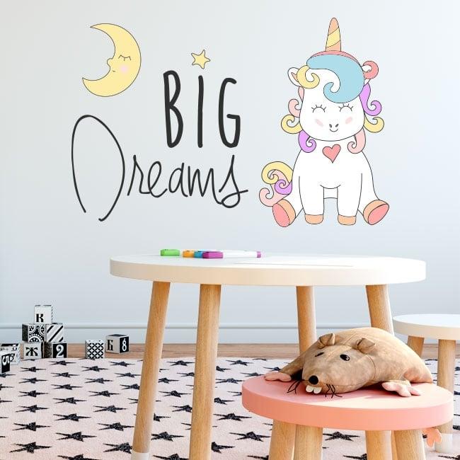 Wall decal unicorn phrase
