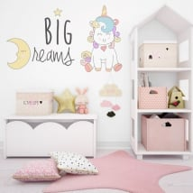 Wall decal unicorn big dreams
