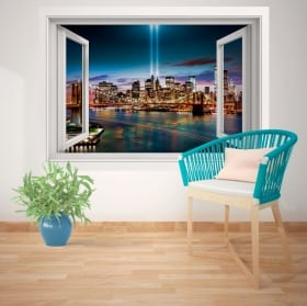 Wall stickers window New York 3D
