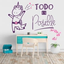 Wall decal Unicorn phrase is possible