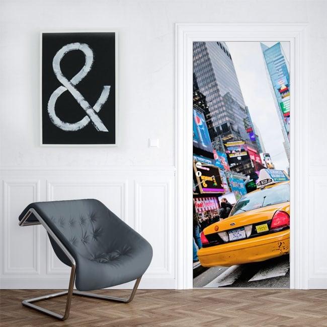 Vinyl for doors New York taxi
