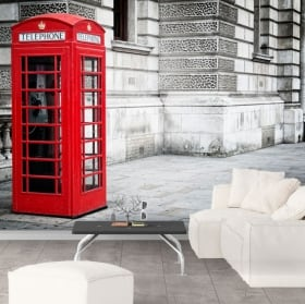 Wall murals England telephone booth London