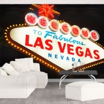 Wall murals Las Vegas Sign