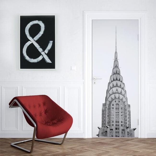 Vinyl for doors Chrysler tower New York