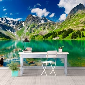 Wall mural lake and mountains