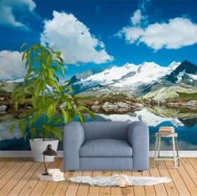 Wall murals Swiss Alps mountains