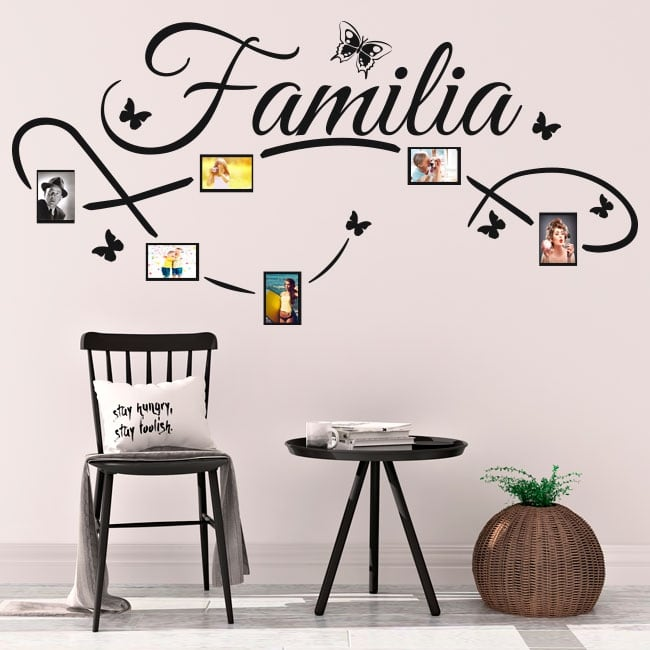 Decorative vinyl family photos