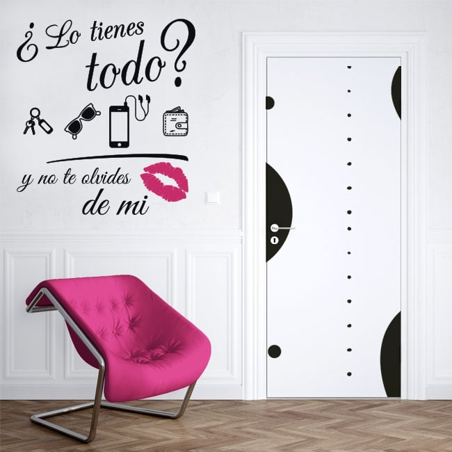Decorative vinyl do not forget my kiss