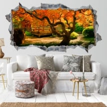 Wall stickers tree garden Asian 3D