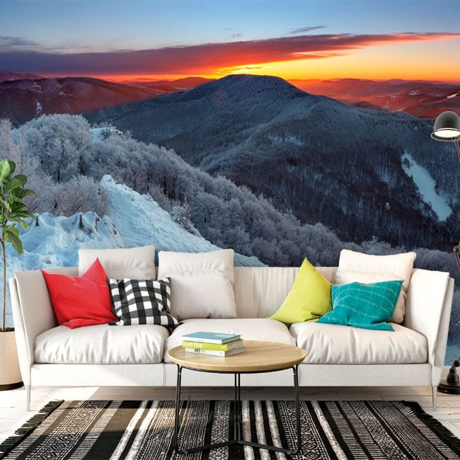 Wall murals vinyl sunrise in the mountains