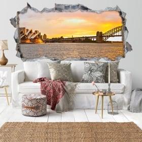 Vinyl Sydney sunset bay 3D