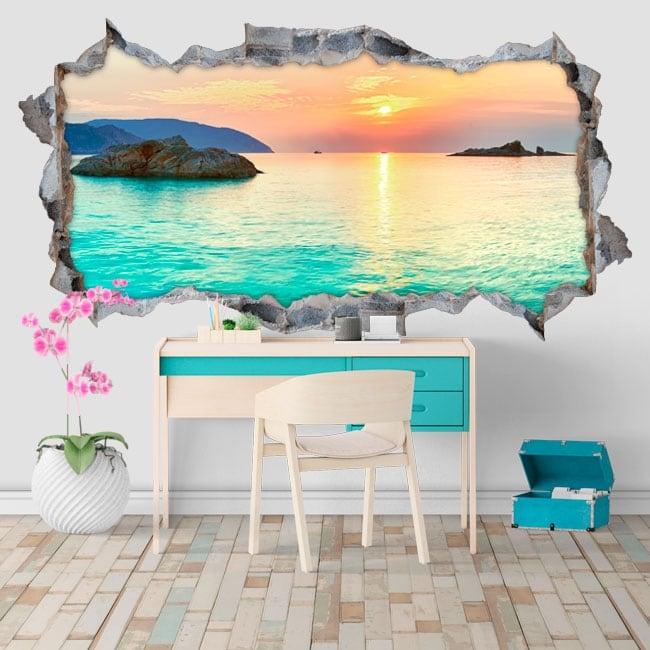 Vinyl Sunrise Beaches Côn Đảo Vietnam 3D