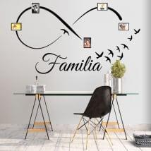 Adhesive vinyl infinity family photos birds
