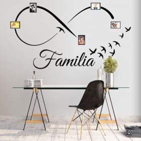 Adhesive vinyl infinity family photos birds
