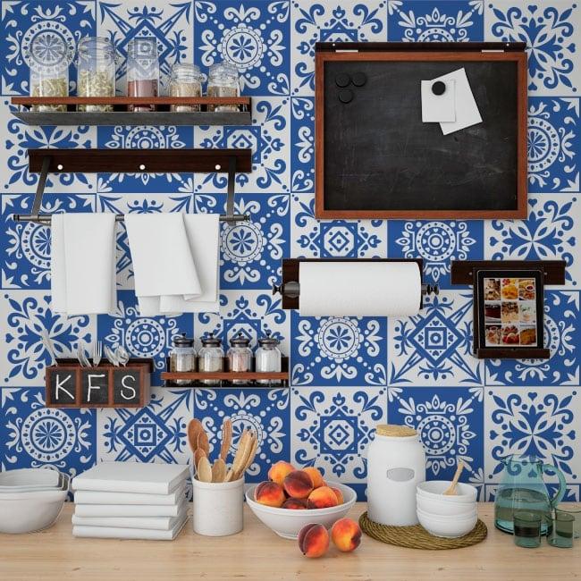 Adhesive vinyl tiles for walls