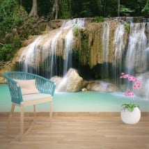 Wall mural waterfalls Thailand