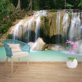 Wall mural waterfalls Thailand
