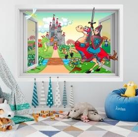 Children's vinyl Prince and Princess castle 3D