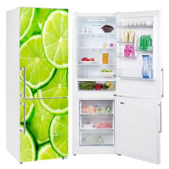 Refrigerator vinyls lemon slices