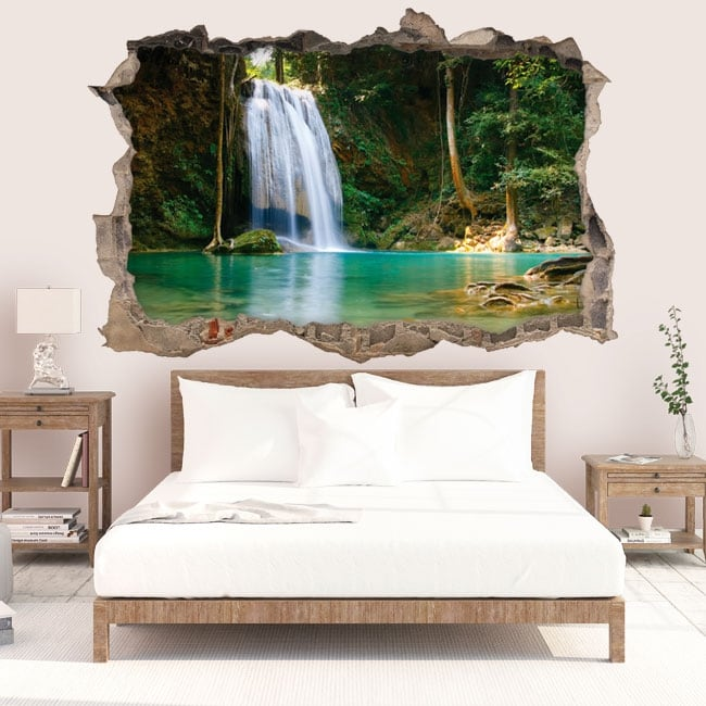 Wall stickers Thailand waterfalls 3D
