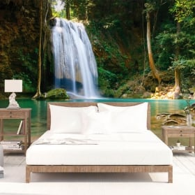 Vinyl wall murals waterfalls of Tthailand
