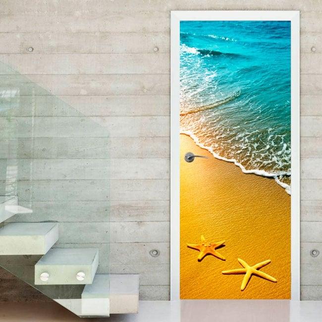 Vinyl for doors sea stars