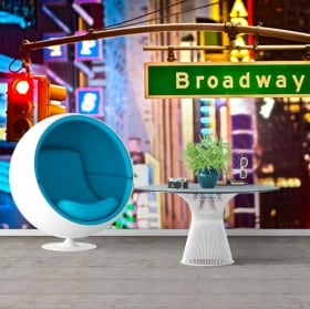 Wall murals Broadway New York sign 3D