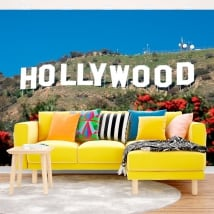 Vinyl wall murals Hollywood sign