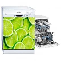 Vinyl dishwasher lemons