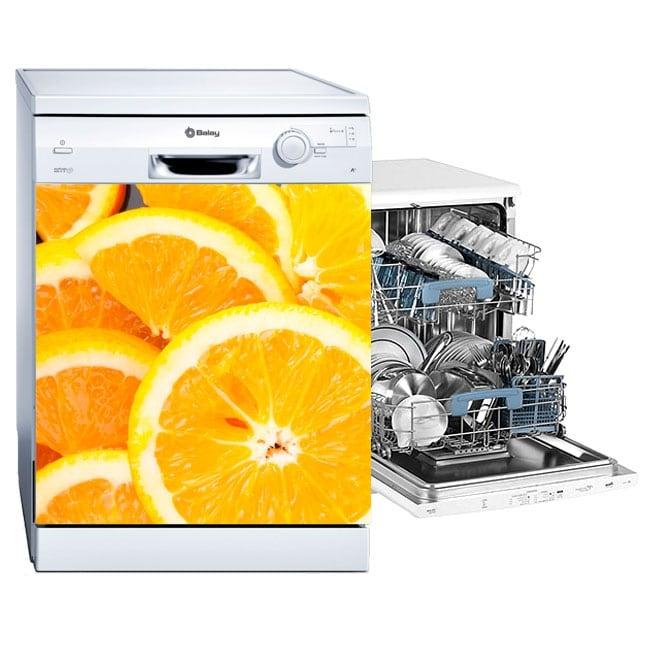 Vinyl dishwasher oranges