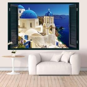 Vinyl Greece Santorini window 3D