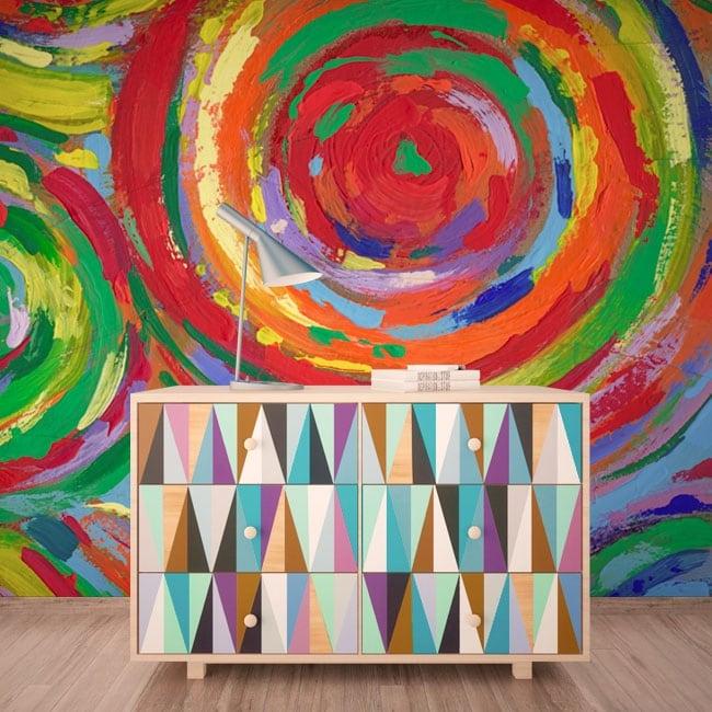 Wall murals painting circles