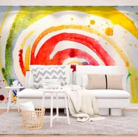 Wall murals painting strokes