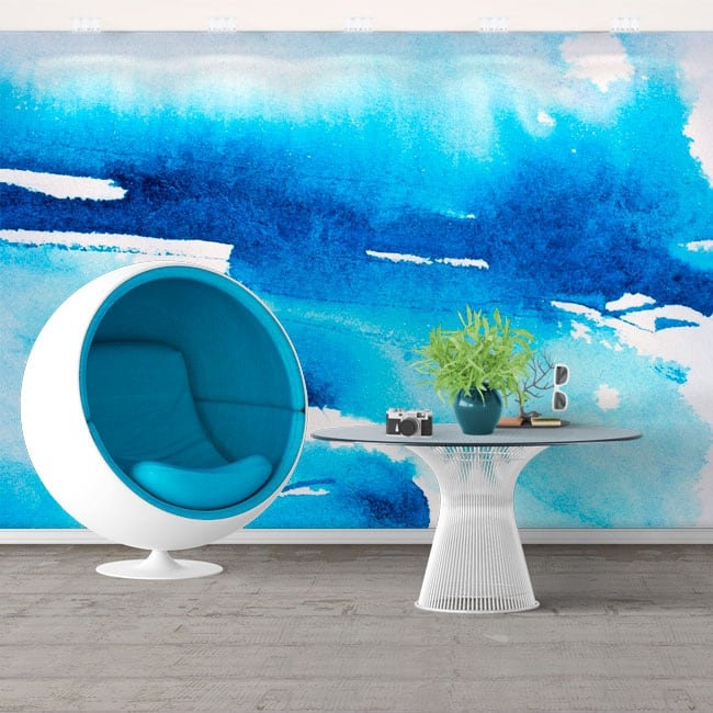 Vinyl wall murals blue paint