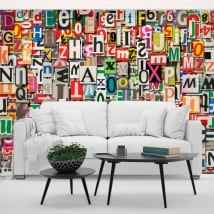 Vinyl wall murals letters collage