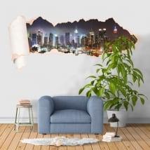 Vinyl New York Manhattan torn paper 3D
