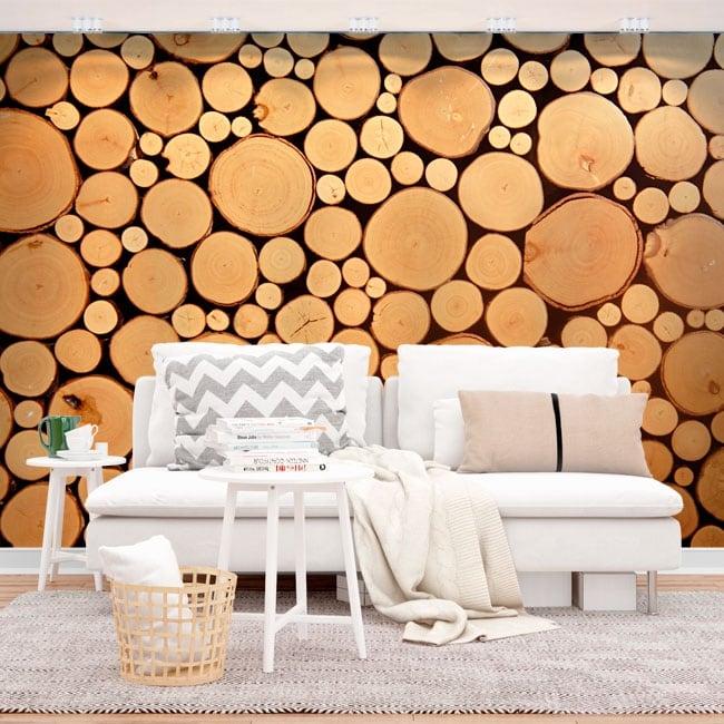 Wall mural trunks trees