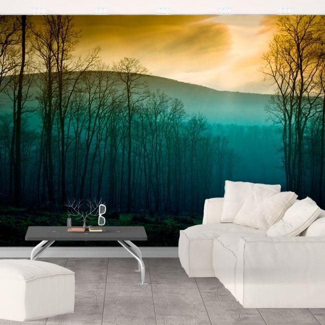 Vinyl wall murals trees nature