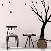 Decorative vinyl tree and birds