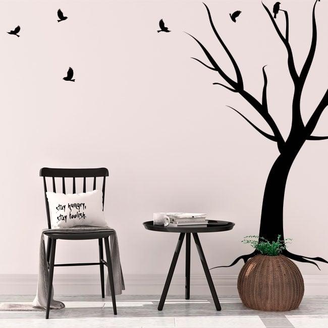Decorative vinyl tree and birds