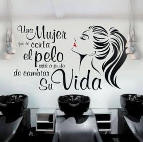 Vinyl hairdressers phrase coco chanel