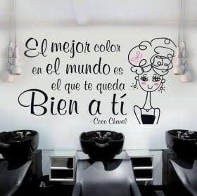Decorative vinyl hairdressers phrase coco chanel