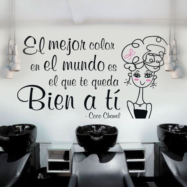 Decorative vinyl hairdressers phrase coco chanel
