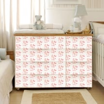 Vinyl decorate furniture baby room