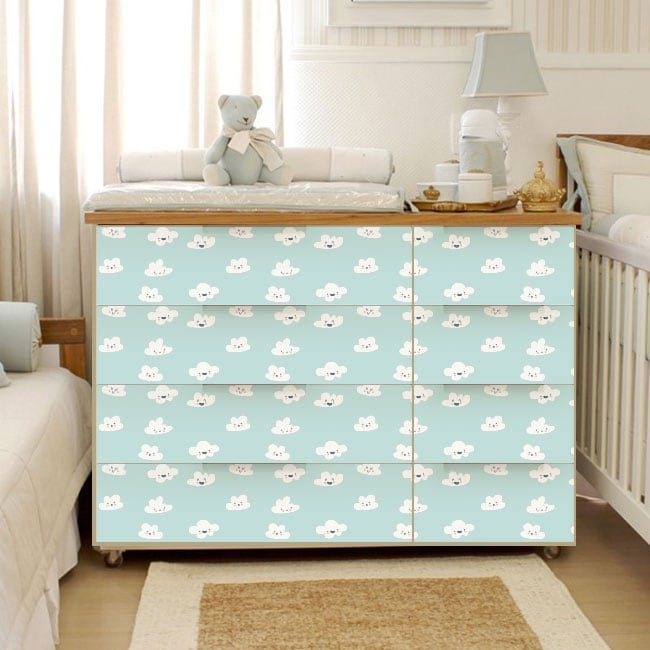 Decorative vinyl babies drawers